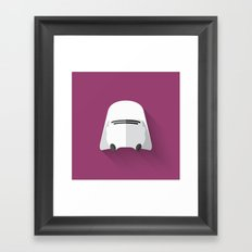 Snowtrooper Flat Design  Framed Art Print