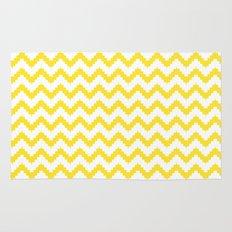 funky chevron yellow pattern Rug