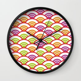 Seigaiha or seigainami literally means wave of the sea. Abstract japanese scales Wall Clock
