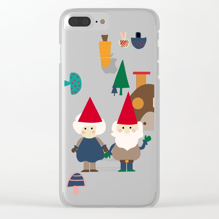 Gnome white Clear iPhone Case