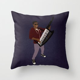 The KiiBoard Kid ‏(Kola Bello) Throw Pillow