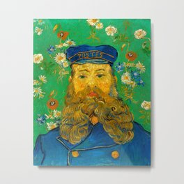 Vincent van Gogh - Portrait of Postman Metal Print