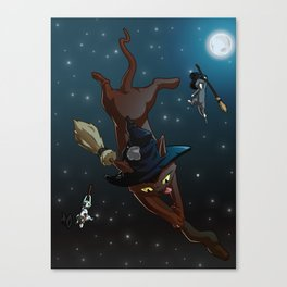 Witch Cat Apprentices Canvas Print