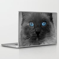 beth hoeckel Laptop & iPad Skins featuring CATTURE by Catspaws