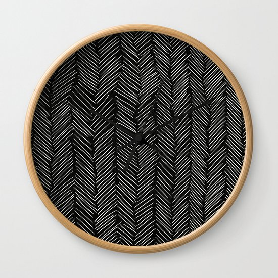 Herringbone Cream on Black by followmeinstead