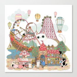 the Day of the rollercoaster Canvas Print