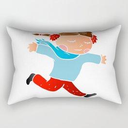 A girl skating on ice Rectangular Pillow