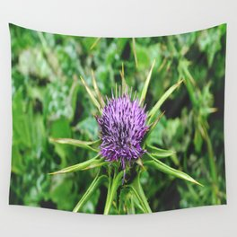 Purple Wild Flower Wall Tapestry