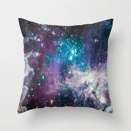 Lavender Teal Star Nursery Throw Pillow