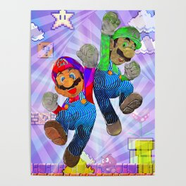 Pop Art Mario Brothers Poster