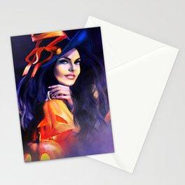 Jack O Lantern Witch Stationery Cards