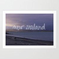 new zealand Art Prints featuring New Zealand by Tinne Cornelissen