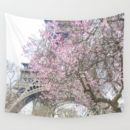 Paris in Springtime with the Eiffel Tower Wall Tapestry