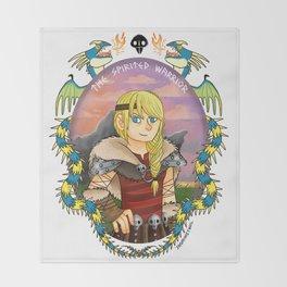Astrid Hofferson- The Spirited Warrior Throw Blanket