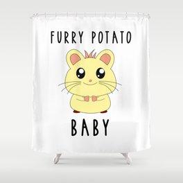 Funny Golden Hamster Pet Furry Potato Baby Gift Design Shower Curtain