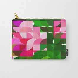 Pink Roses in Anzures 1 Abstract Circles 1 Carry-All Pouch