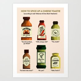 SKAM: How to spice up a cheese toastie Art Print