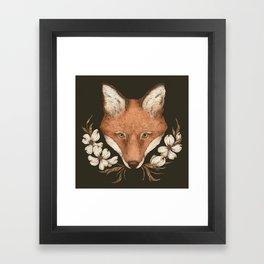 The Fox and Dogwoods Framed Art Print