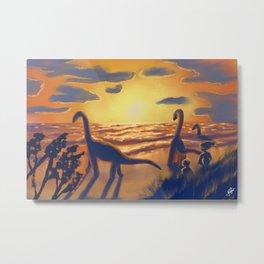 Between dinosaurs Metal Print
