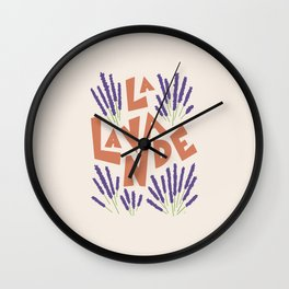 La Lavande French Lavender Wall Clock