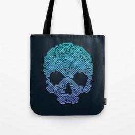 Labyrinthine Skull - Neon Tote Bag