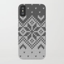 Winter knitted pattern 8 iPhone Case