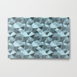 Abstract Geometrical Triangle Patterns 4 VA Healing Aire Blue - Angelic Blue - Soothing Blue Metal Print