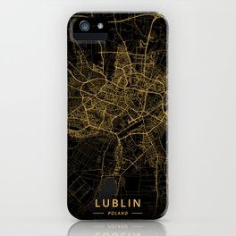 Lublin, Poland - Gold iPhone Case