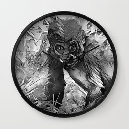 AnimalArtBW_Gorilla_20170607_by_JAMColorsSpecial Wall Clock