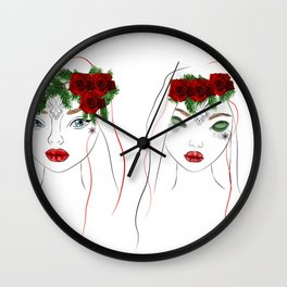 christmas girls Wall Clock