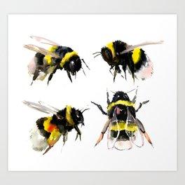 Bumblebee, Bee art, bee design, bees Art Print