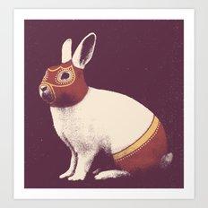 Lapin Catcheur (Rabbit Wrestler) Art Print