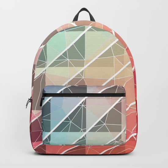 Abstract Geometric Design Backpack