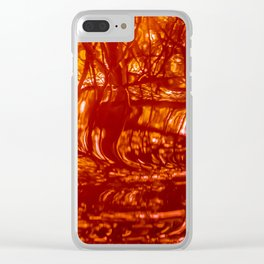Red Fury Clear iPhone Case