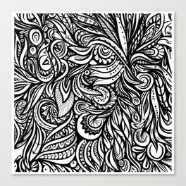 Black and White Abstract Design Canvas Print