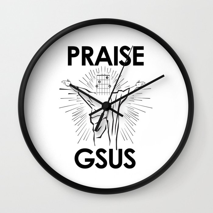 Praise G Sus Guitar Chord Wall Clock By Wilddelilah Society6