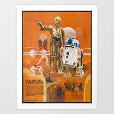Star R2-D2 C-3PO Wars Art Print