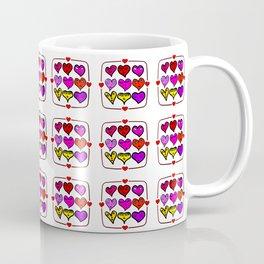Love Hearts Faces - Valentines Coffee Mug