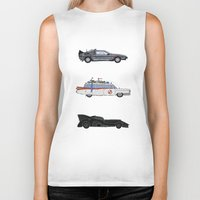cars Biker Tanks featuring Sweet Cars by PG79
