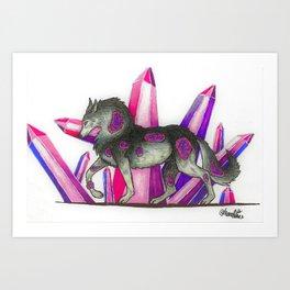 Amethyst Wolf Art Print