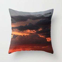 Desert Mountain Sunset XII Throw Pillow