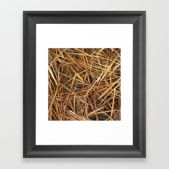 autumn straw I Framed Art Print