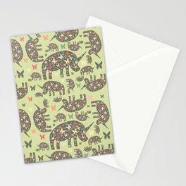 Rhinos Pattern Stationery Cards