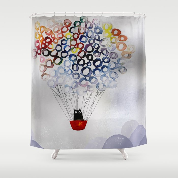 Whimsical Travel Shower Curtain