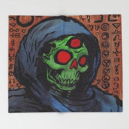 Occult Macabre Throw Blanket