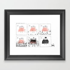 Cat Lady Heads Out Framed Art Print