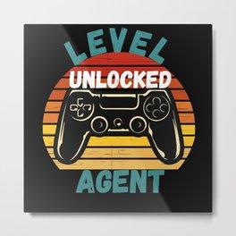 Level Unlocked Agent Loading Metal Print