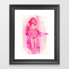 Woman in Silk Coat Framed Art Print