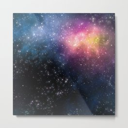 Stars and Nebulas Metal Print