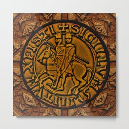 Medieval Seal of the Knights Templar Metal Print